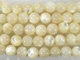 Нить бусин из перламутра, шар гладкий 8 мм