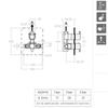 Встраиваемый термостатический смеситель для душа RS-Q 932411S на 1 выход - фото №2