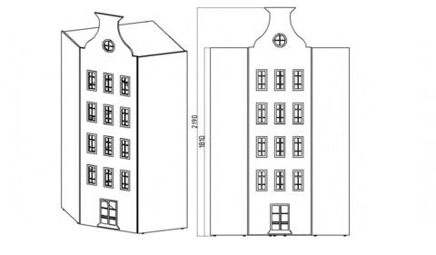 Угловой шкаф домик Амстердам -5 (Н)