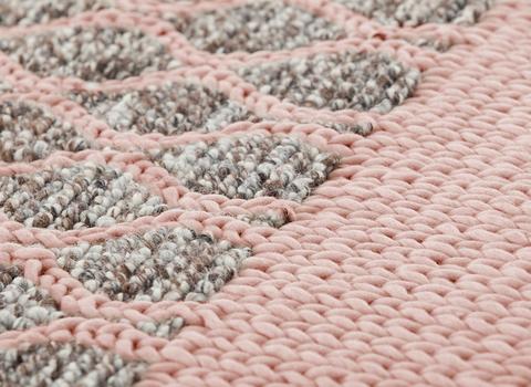 Подушка Mangas Space Rhombus Pink