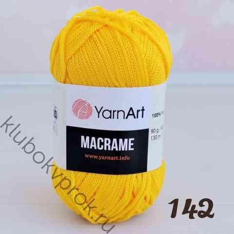 YARNART MACRAME 142, Желтый