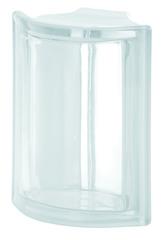 Угловой стеклоблок бесцветный гладкий Vetroarredo Neutro ANGOLARE T 19x4x15x8