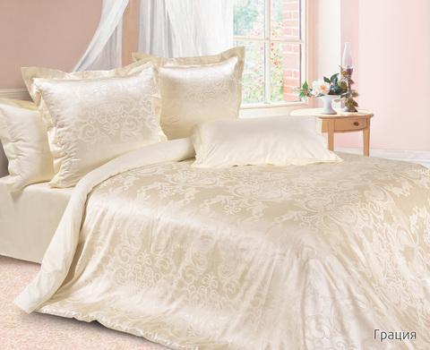 Жаккардовое постельное бельё 2 спальное, Грация