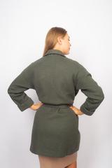 Зеленое трикотажное пальто оптом