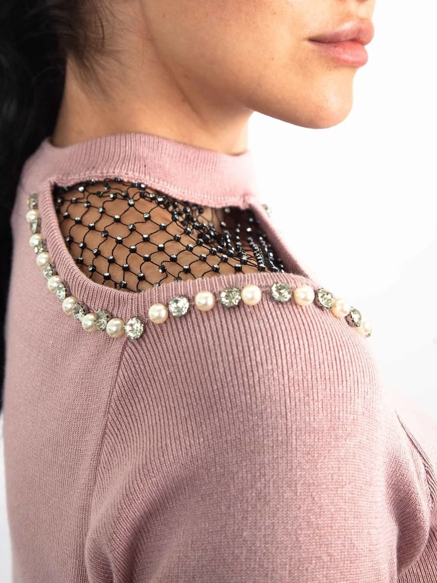 Moda Кофта c сеткой на плече