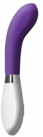 Фиолетовый вибратор для точки G или простаты Apollo - 20 см.