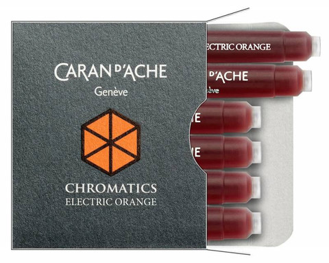 Carandache Чернила (картридж), оранжевый, 6 шт в упаковке
