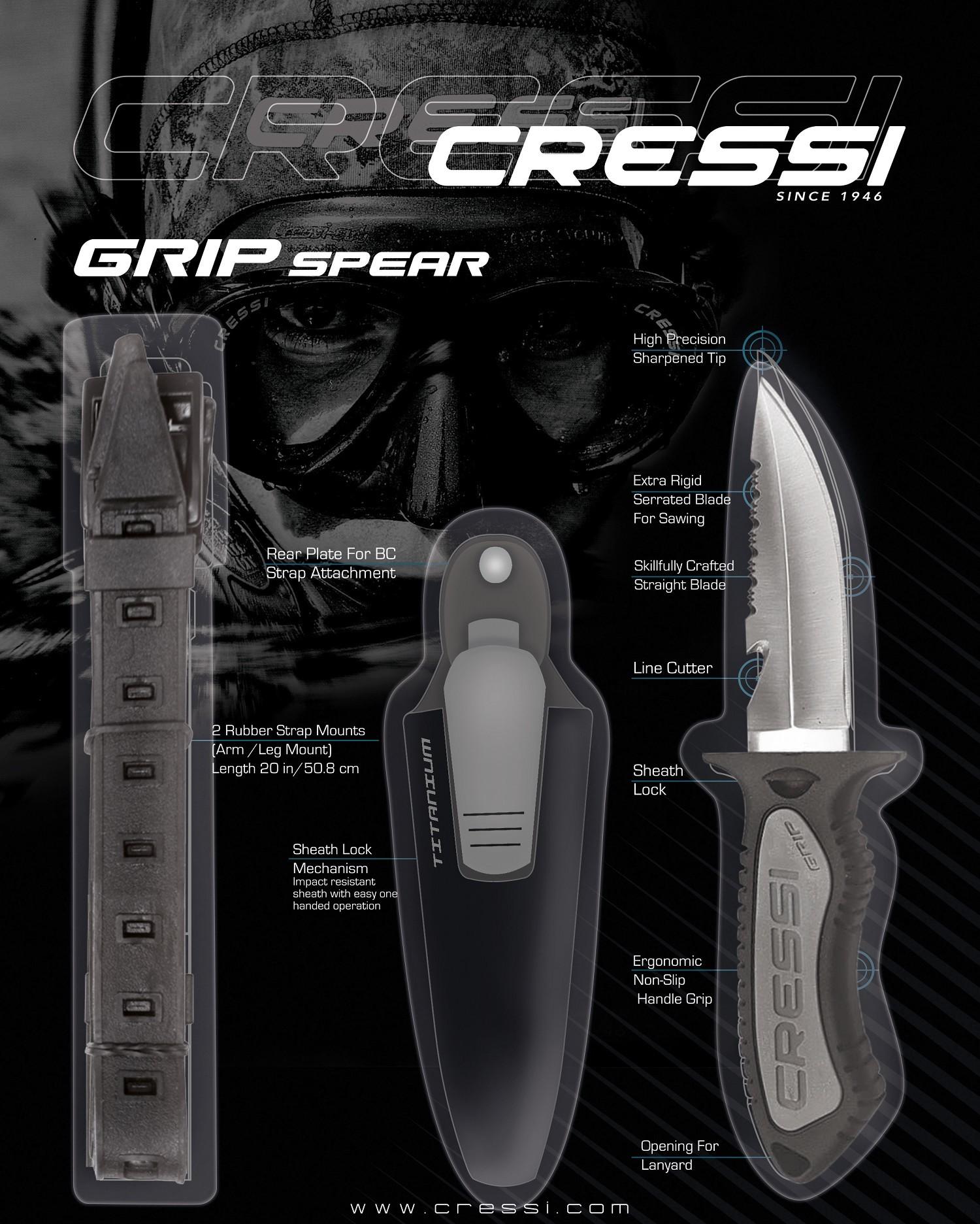 Cressi Grip spear knife