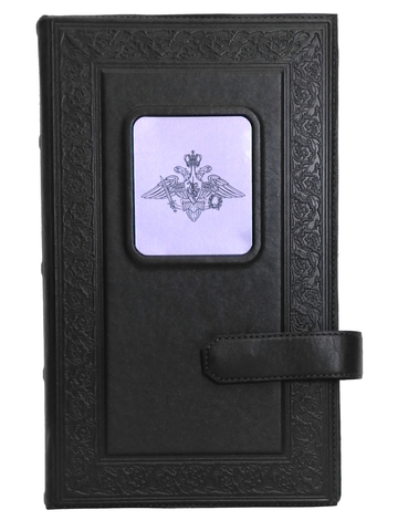 Визитница настольная | Герб вооруженных сил РФ | Чёрный