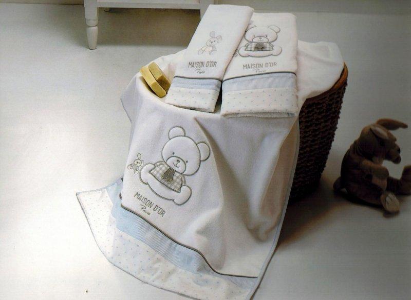Полотенца детские Набор полотенец для мальчика  из 3х предметов  DEAR PANDA- ДИР ПАНДА /  Maison Dor (Турция) ДИР_ПАНДА.jpg