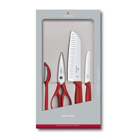 Набор ножей для кухни Victorinox Swiss Classic Kitchen (6.7131.4G) 4шт красный в коробке