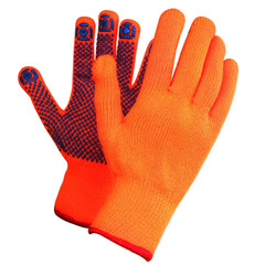 Перчатки рабочие акриловые с ПВХ покрытием