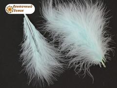 Набор перьев марабу длина 7-17 см аквамарин