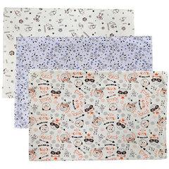 Папитто. Пеленки трикотажные из кулирки, 120х90 см, 3 шт.