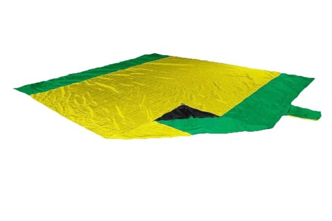 Картинка пляжное покрывало Ticket to the Moon Beach Blanket Yellow/Green - 1