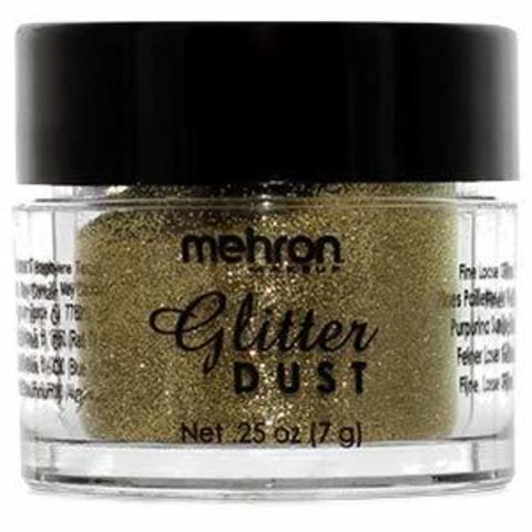 MEHRON Рассыпчатые блестки Glitter Dust, 18 Karat Gold (Золото), 7 г