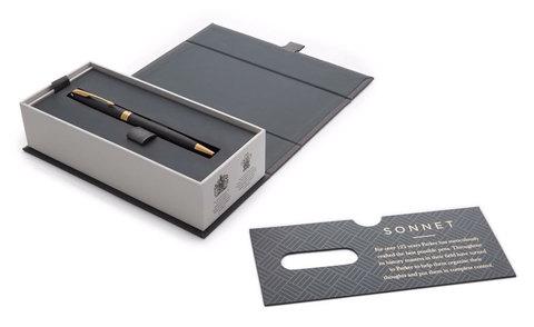 Шариковая ручка Parker Sonnet Slim Matte Black GT123