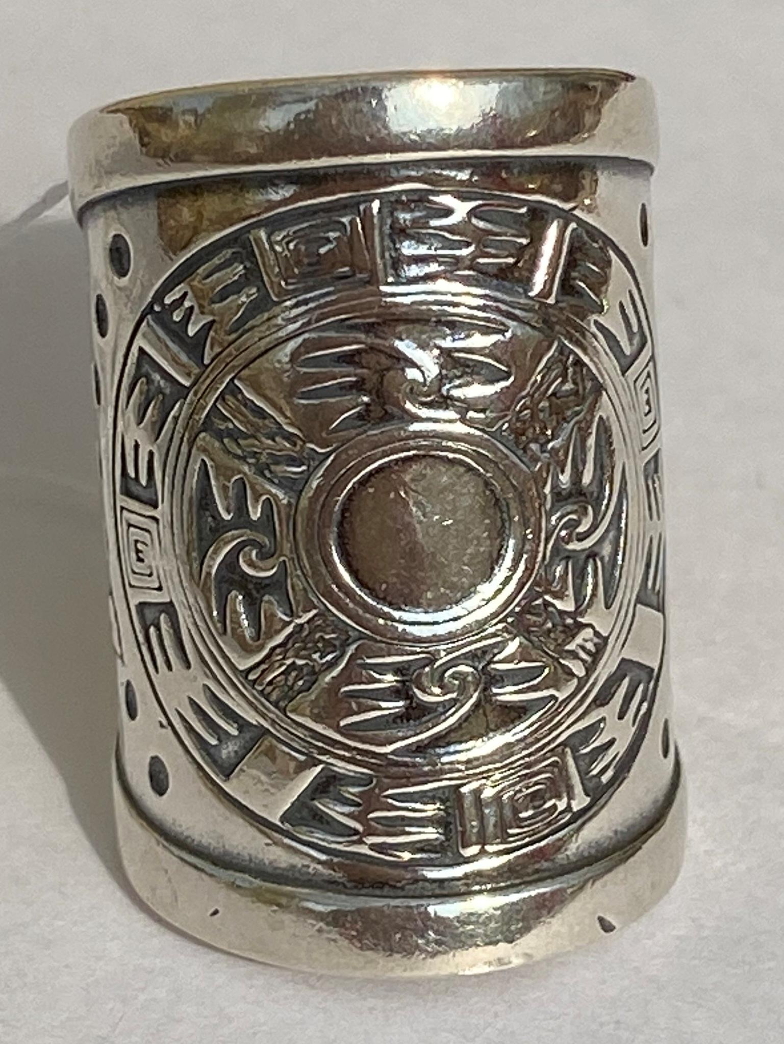 Индейское  (кольцо из серебра)