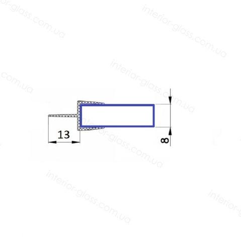 Уплотнительный профиль для душевой HDL-205 черный