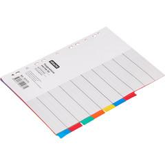 Разделитель листов Attache А4 картонный 10 листов разноцветный (297х210 мм)
