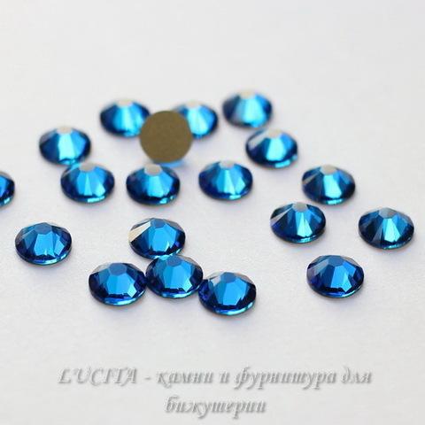 2028/2058 Стразы Сваровски холодной фиксации Capri Blue ss12 (3,0-3,2 мм), 12 штук ()