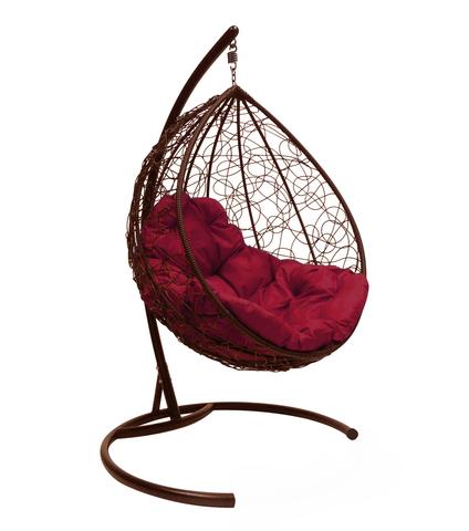 Кресло подвесное Lagos  brown/burgundy
