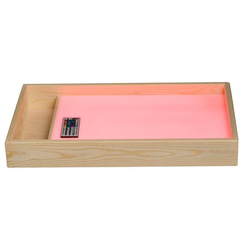 Стол для рисования песком с цветной подсветкой и отсеком для песка