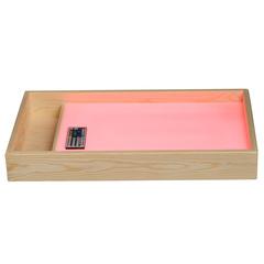 Стол для рисования песком с отсеком для песка и цветной подсветкой (розовый)