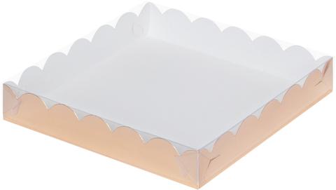 Коробка для печенья и пряников (12*12*3см) (золото)