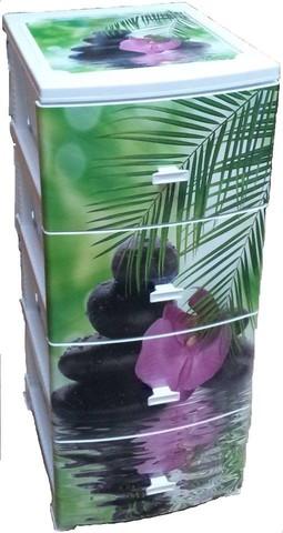 Пластиковый комод Декор (моно рис)