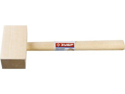 Деревянная прямоугольная киянка ЗУБР 330 г 70х50 мм