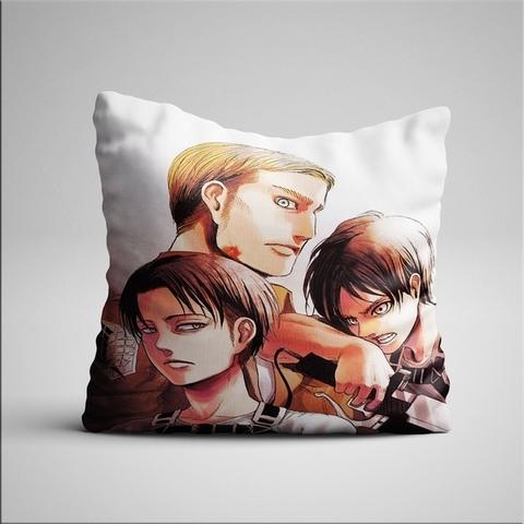 Подушка с Эрвином, Леви и Эреном