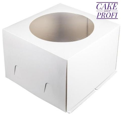 Коробка для торта ( хром-эрзац)30×30×19см. (50шт)