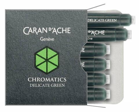 Carandache Чернила (картридж), зеленый, 6 шт в упаковке