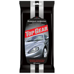 Салфетки влажные для стекол Top Gear (30 штук в упаковке)