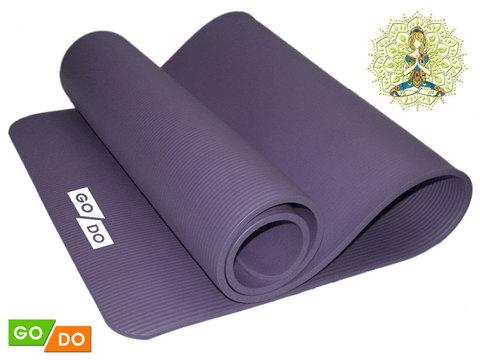 Коврик для йоги и фитнеса. Цвет: серый: GREY К6010