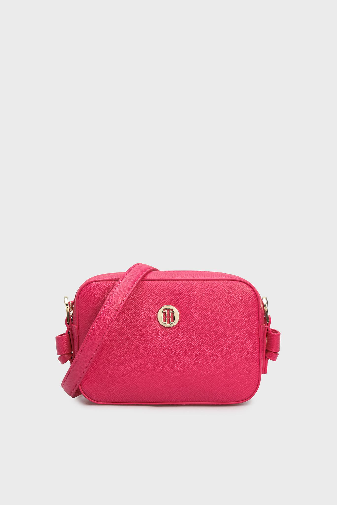 Женская розовая сумка через плечо CLASSIC SAFFIANO Tommy Hilfiger