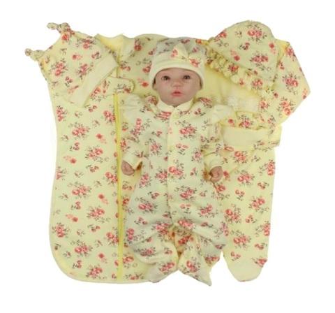 Набор одежды для новорожденной девочки в роддом Розы желтый