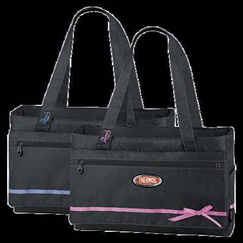 Термосумка детская Thermos Foogo Large Diaper Fashion Bag (черная/розовая)