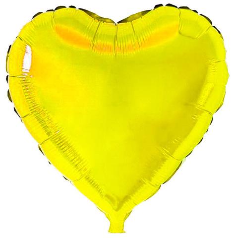 Воздушный шар Сердце (Золотое)