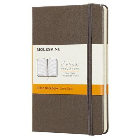 Блокнот Moleskine CLASSIC MM710P14 Pocket 90x140мм 192стр. линейка твердая обложка коричневый
