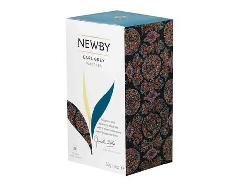 Чай черный в пакетиках Newby Earl grey, 25 пак/уп
