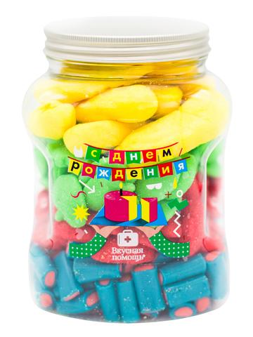 Вкусная помощь Большая банка маршмеллоу С днем рождения 1,13 кг