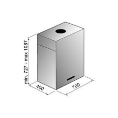 Вытяжка Korting KHA 7950 X - схема