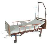 Медицинская кровать E-45A (MM-39), с туалетным устройством, ЛДСП под дерево
