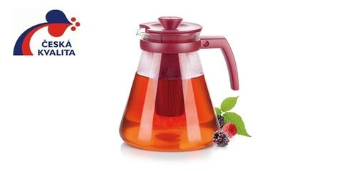 Чайник TEO TONE 1.7л, с ситечками для заваривания, оранжевый