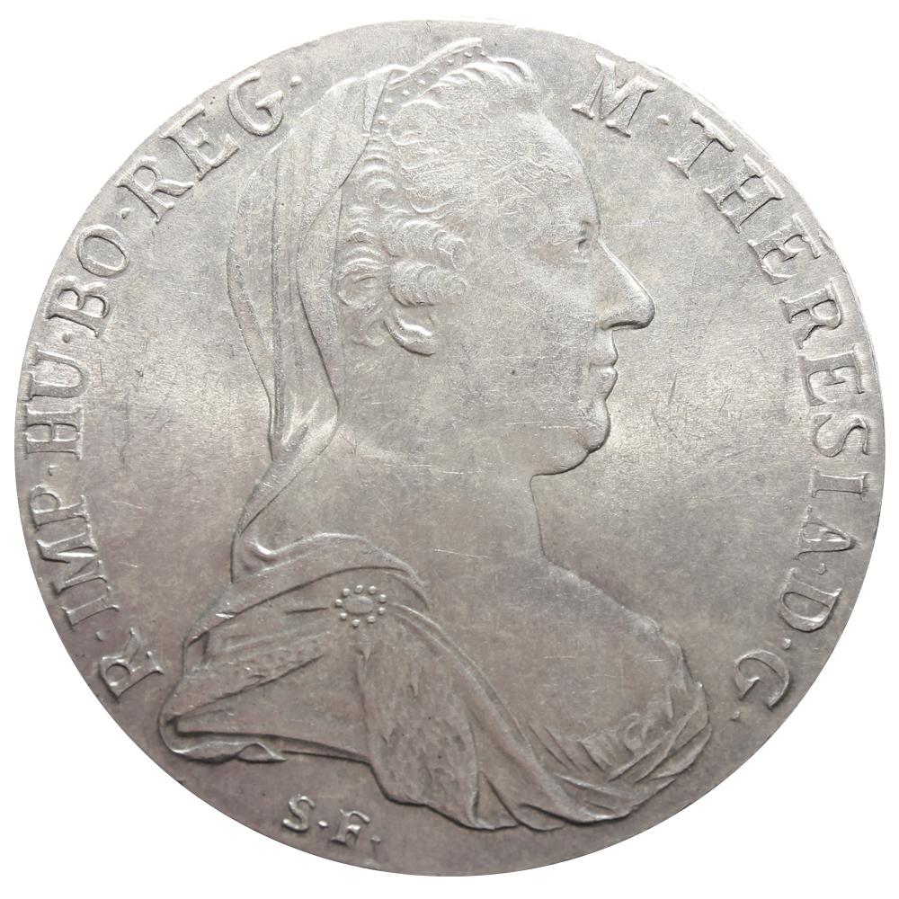 1 талер 1780. Австрия. Рестрайк AU (Талер Марии Терезы)