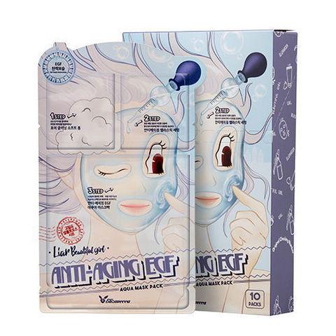 Тканевая маска для лица ТРЕХЭТАПНАЯ/ОМОЛАЖИВАЮЩАЯ Anti-Aging EGF Aqua Mask Pack, Elizavecca
