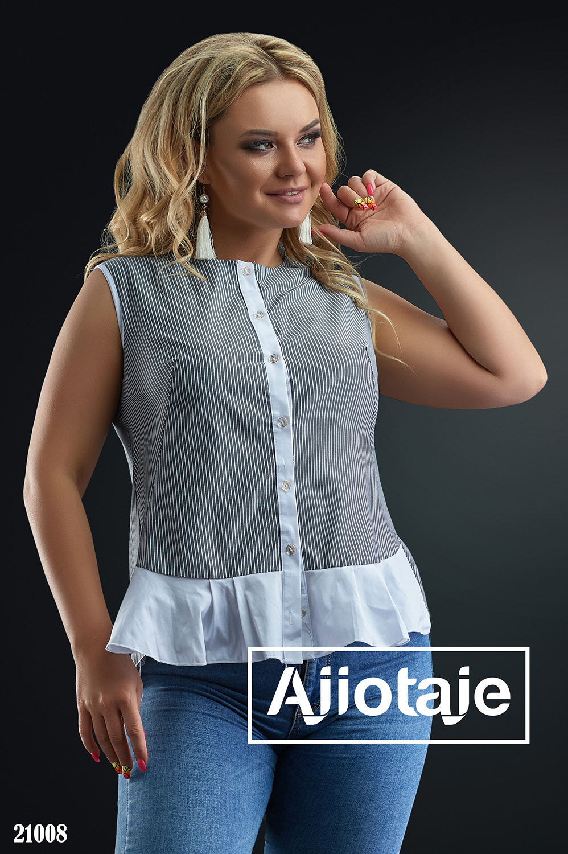 Рубашка с белой планкой в полосочку