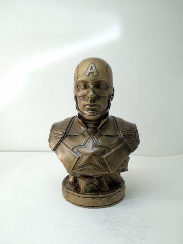 Бюст Капитан Америка бронза